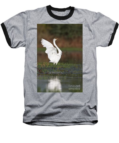 Egret Dancing Baseball T-Shirt