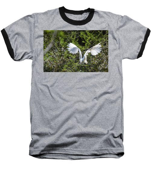 Baseball T-Shirt featuring the photograph Taking Off by Judith Morris