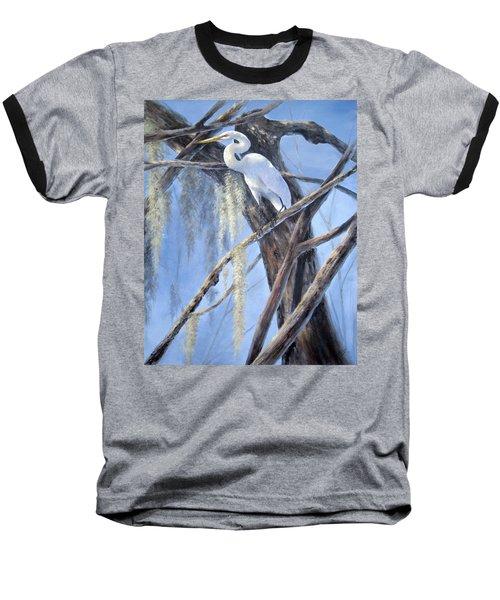 Egret Perch Baseball T-Shirt