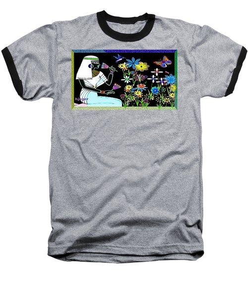 Baseball T-Shirt featuring the digital art Egyptian Flower  Garden by Hartmut Jager
