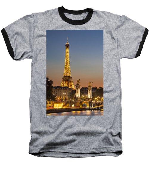 Eiffel At Twilight Baseball T-Shirt