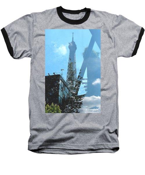 Eiffel Collage Baseball T-Shirt