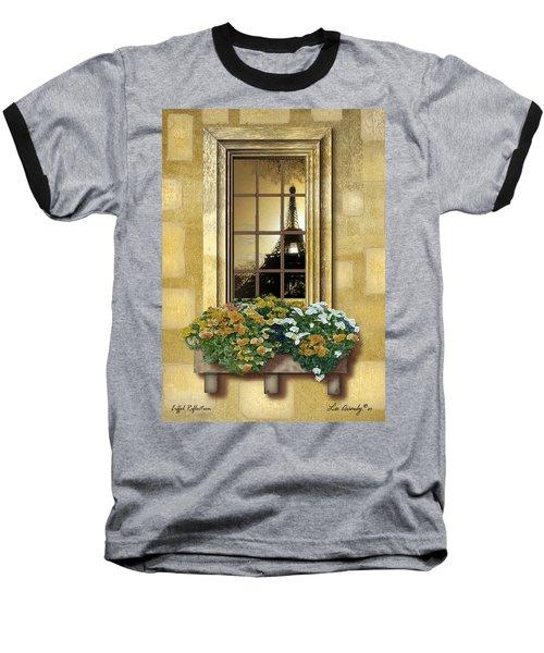 Eiffel Reflection Baseball T-Shirt