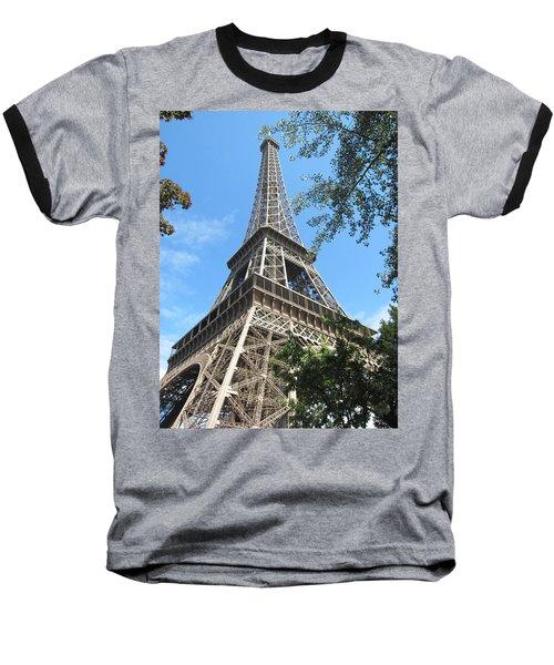 Baseball T-Shirt featuring the photograph Eiffel Tower - 2 by Pema Hou