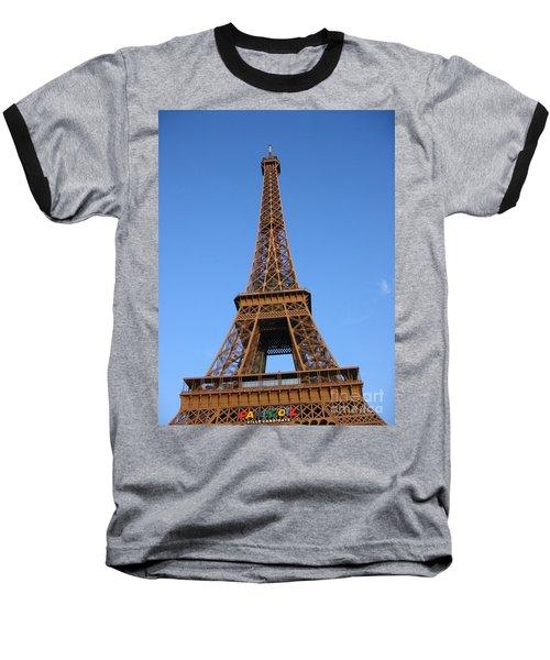 Eiffel Tower 2005 Ville Candidate Baseball T-Shirt by HEVi FineArt