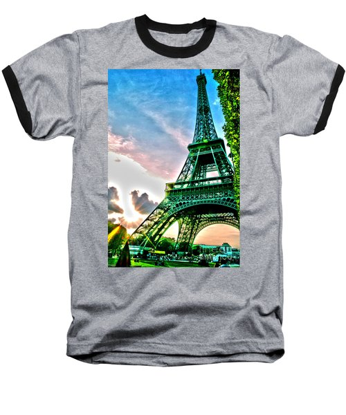 Eiffel Tower 8 Baseball T-Shirt by Micah May