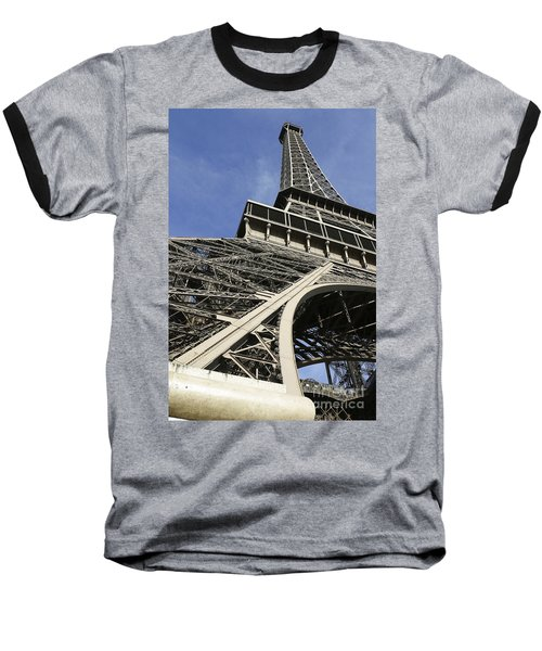 Baseball T-Shirt featuring the photograph Eiffel Tower by Belinda Greb