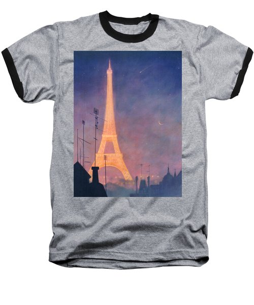 Eiffel Tower Baseball T-Shirt by Blue Sky