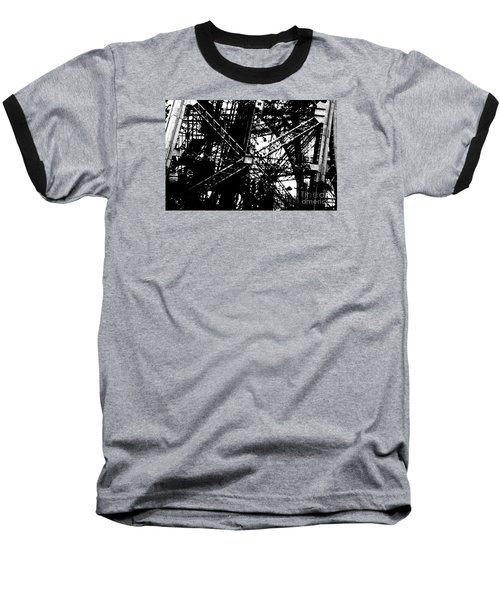 Baseball T-Shirt featuring the photograph Eiffel Tower Detail  by Joey Agbayani