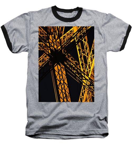 Eiffel Tower Detail Baseball T-Shirt