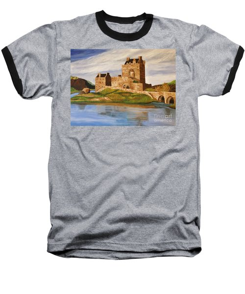 Eilean Donan Castle Baseball T-Shirt by Christy Saunders Church