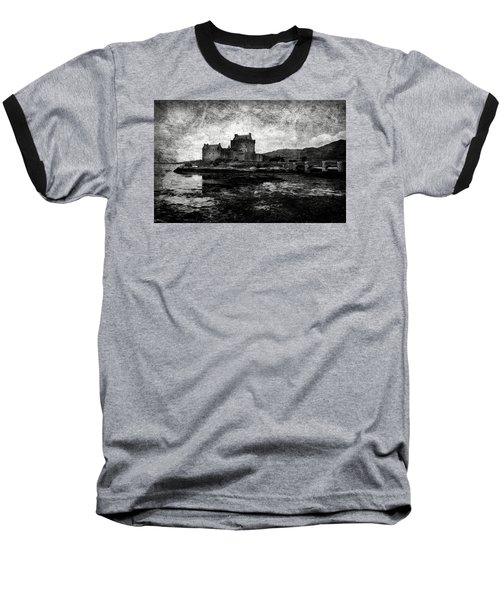 Eilean Donan Castle In Scotland Bw Baseball T-Shirt by RicardMN Photography
