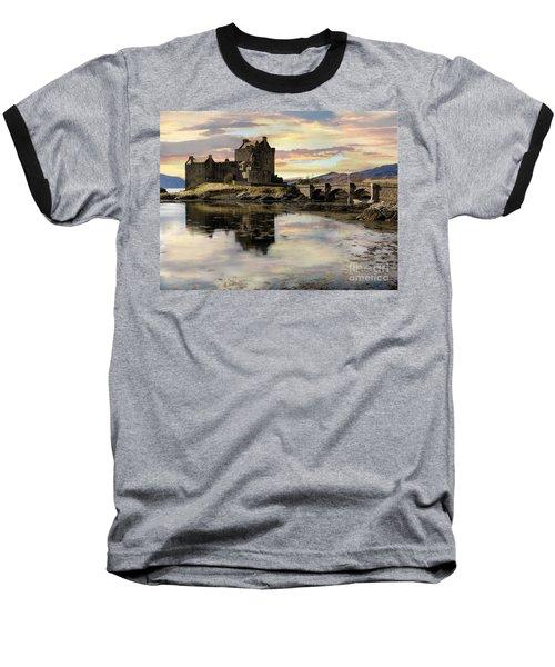 Eilean Donan Castle Scotland Baseball T-Shirt by Jacqi Elmslie