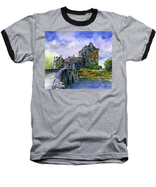 Eilean Donan Castle Scotland Baseball T-Shirt by John D Benson