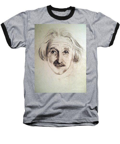Baseball T-Shirt featuring the drawing Einstein by Nancy Kane Chapman