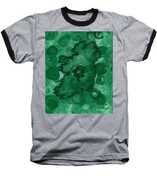 Eire Heart Of Ireland Baseball T-Shirt by Alys Caviness-Gober
