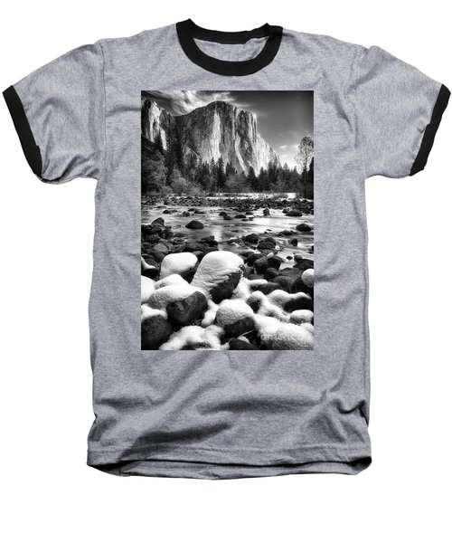 El Cap And Snow Baseball T-Shirt