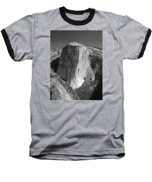 106663-el Capitan From Higher Cathedral Spire, Bw Baseball T-Shirt