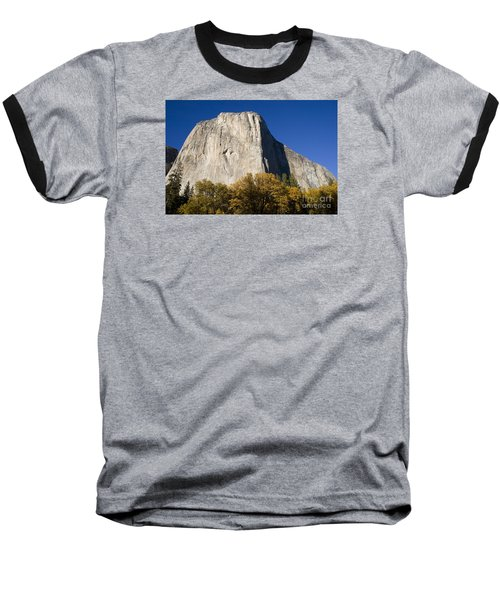 Baseball T-Shirt featuring the photograph El Capitan In Yosemite National Park by David Millenheft