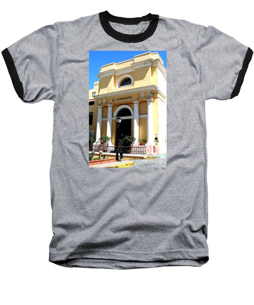 El Convento Hotel Baseball T-Shirt by The Art of Alice Terrill
