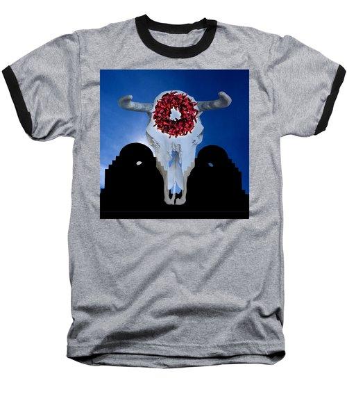 El Dia Los Muertos In Santa Fe Baseball T-Shirt by Gary Warnimont