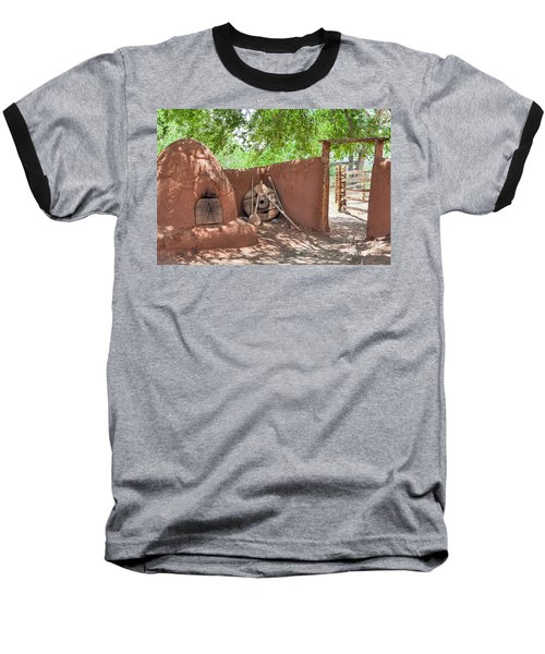 Baseball T-Shirt featuring the photograph El Rancho De Las Golondrinas by Roselynne Broussard