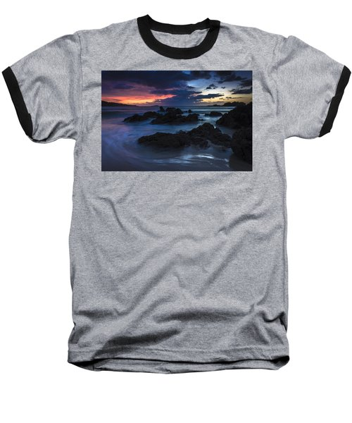 Baseball T-Shirt featuring the photograph El Villar Beach Galicia Spain by Pablo Avanzini