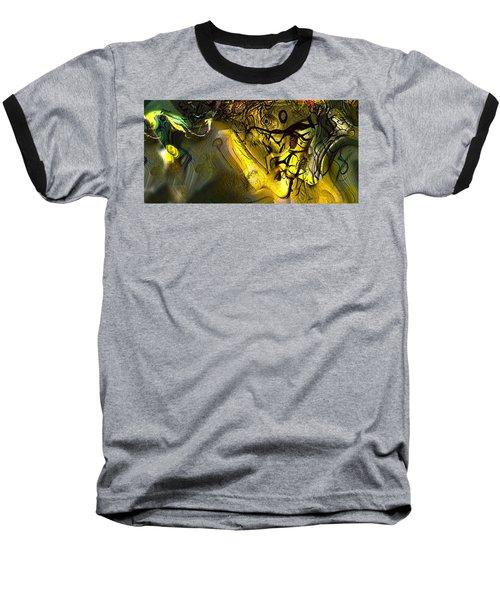Baseball T-Shirt featuring the digital art Elaboration Of Day Into Dream by Richard Thomas
