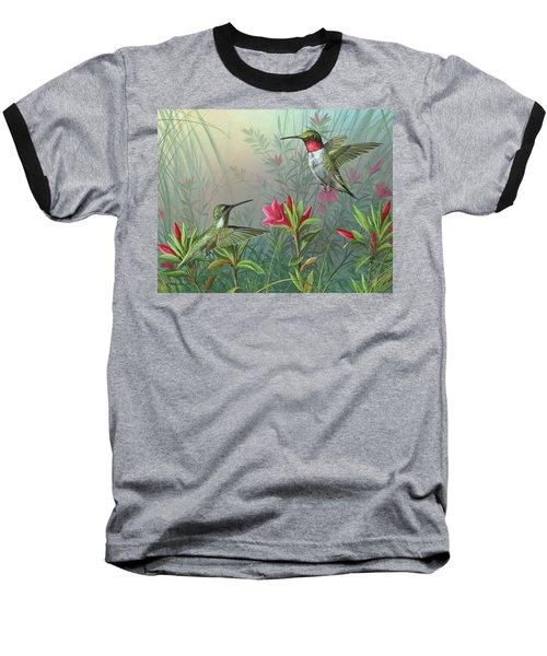 Baseball T-Shirt featuring the painting Elegance  by Mike Brown