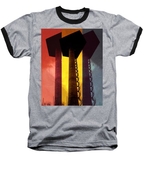 Baseball T-Shirt featuring the photograph Elastic Concrete Part Three by Sir Josef - Social Critic - ART