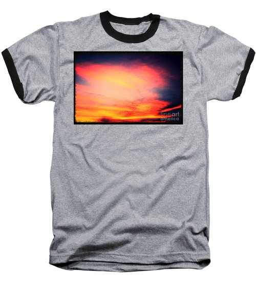 Baseball T-Shirt featuring the photograph Electric Angel Playing A Harp In The Sky  by Kimberlee Baxter