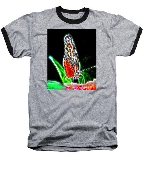 Electric Butterfly Baseball T-Shirt
