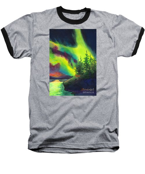 Electric Green In The Sky 2 Baseball T-Shirt by Kathy Braud