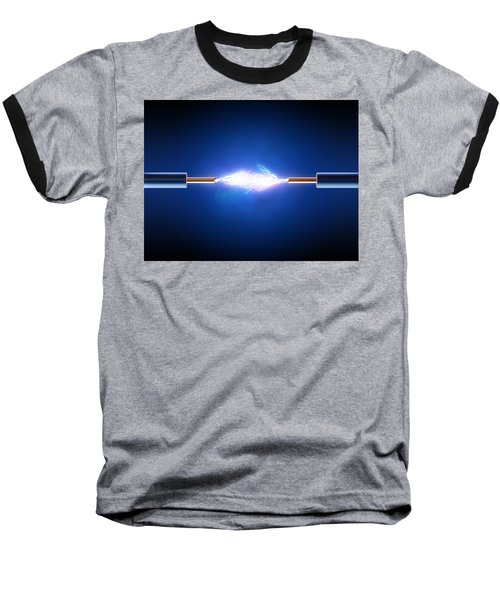 Electric Current / Energy / Transfer Baseball T-Shirt by Johan Swanepoel