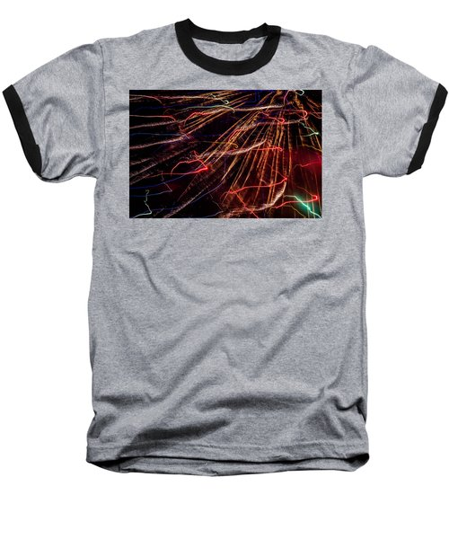 Electricity Baseball T-Shirt by Sara Frank
