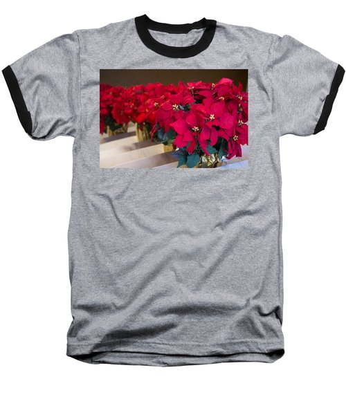 Elegant Poinsettias Baseball T-Shirt
