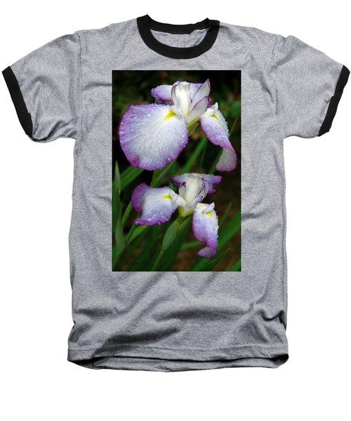 Baseball T-Shirt featuring the photograph Elegant Purple Iris by Marie Hicks