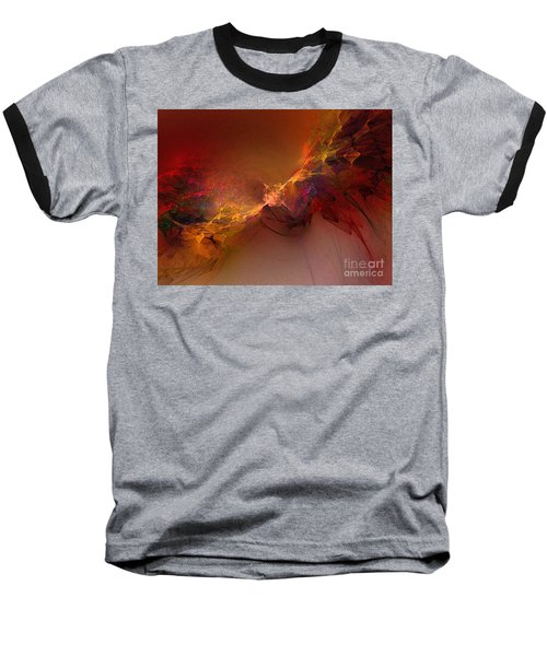 Elemental Force-abstract Art Baseball T-Shirt by Karin Kuhlmann