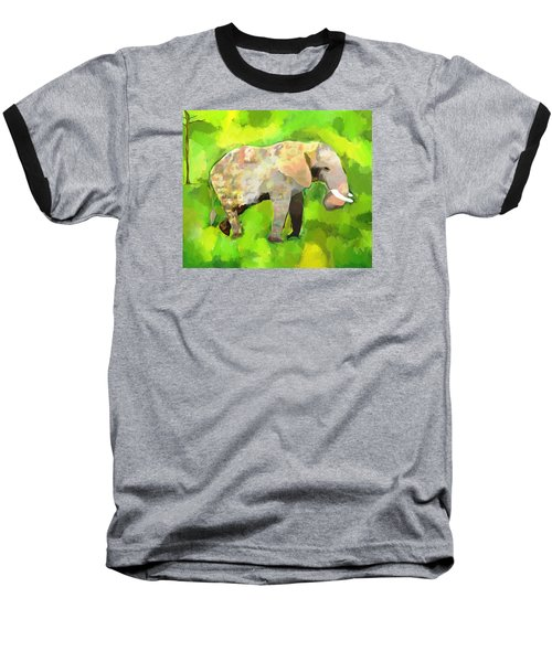 Baseball T-Shirt featuring the painting Elephant 4 by Jeanne Fischer