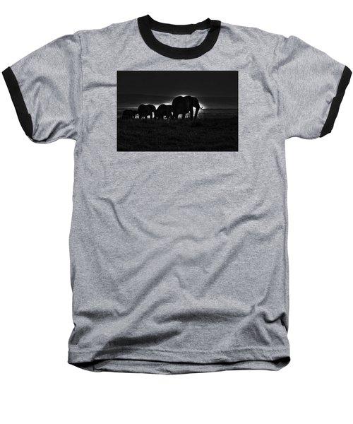 Elephant Family Baseball T-Shirt by Aidan Moran