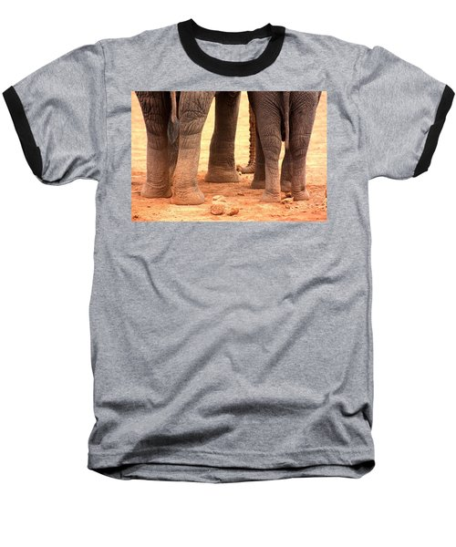 Baseball T-Shirt featuring the photograph Elephant Family by Amanda Stadther