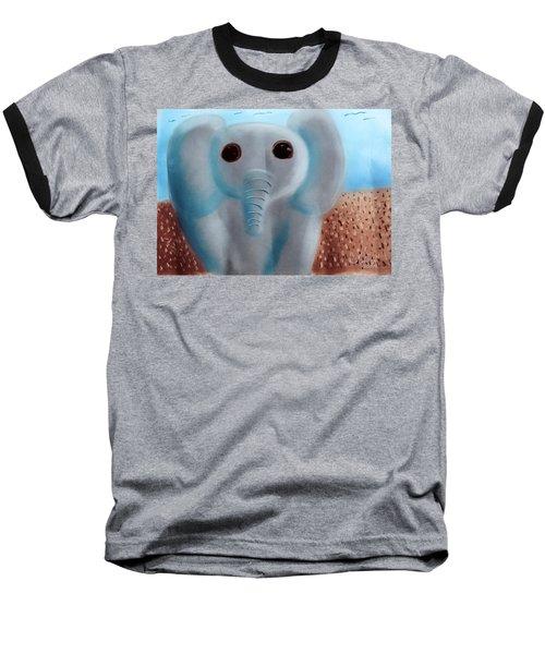 Animalart Elephant Baseball T-Shirt by Joshua Maddison