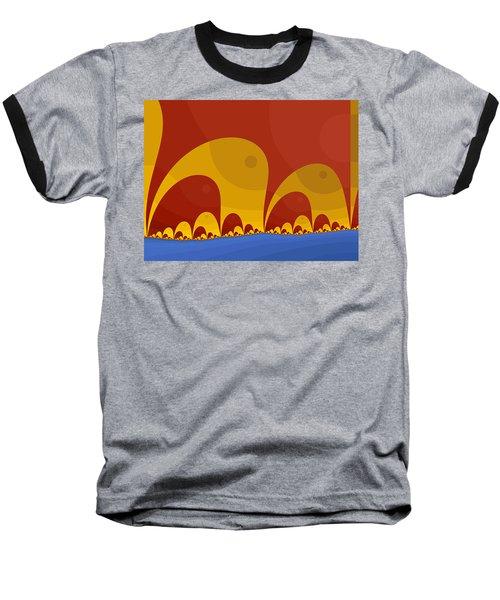 Baseball T-Shirt featuring the digital art Elephant Lake by Mark Greenberg