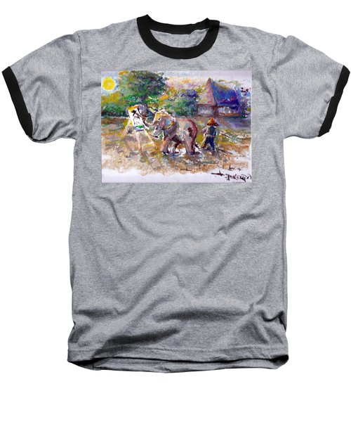 Baseball T-Shirt featuring the painting Elephant Painting by Bernadette Krupa
