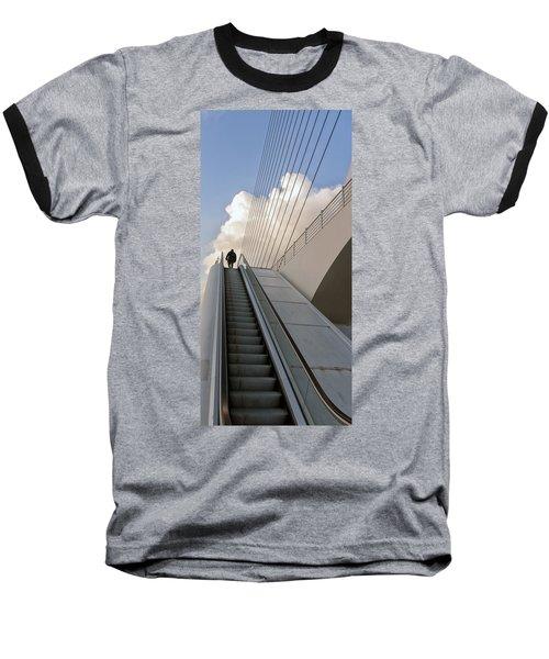 Elevator Baseball T-Shirt by Mike Santis