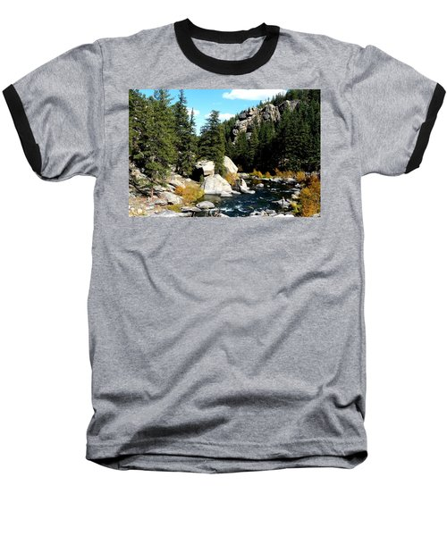 Eleven Mile Canyon Stream Baseball T-Shirt