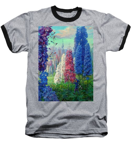 Elf And Fantastic Flowers Baseball T-Shirt
