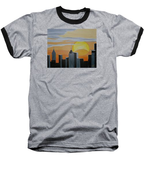 Elipse At Sunrise Baseball T-Shirt by Donna Blossom