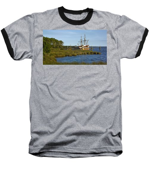 Baseball T-Shirt featuring the photograph Elizabeth II In Port  by Greg Reed