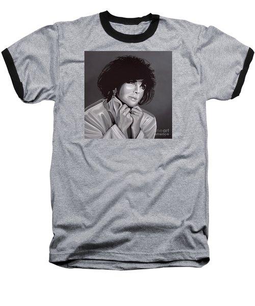 Elizabeth Taylor Baseball T-Shirt by Paul Meijering